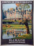 12: Touraine (Chateau d'Usse) - by Constant Duval  Constant Duval for Chemins de Fer d'Orleans