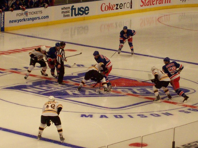 Opening faceoff